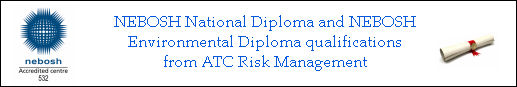 NEBOSH Diploma Qualifications from ATC Risk Management